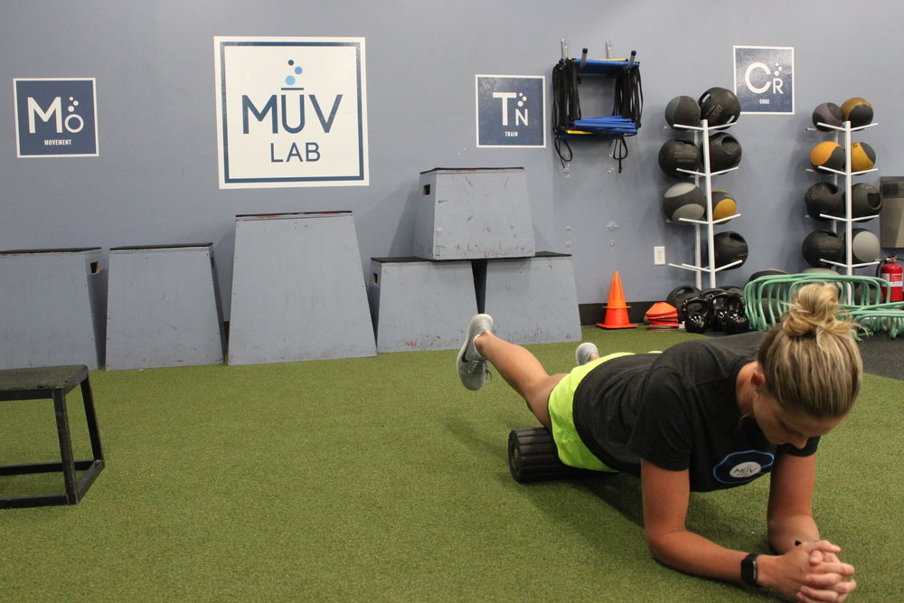 Foam Rolling the Quadriceps and Hip Flexors