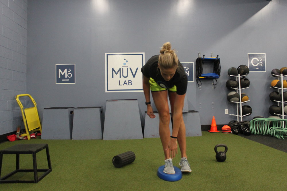 Single Leg RDL on a Theraband Stability Trainer