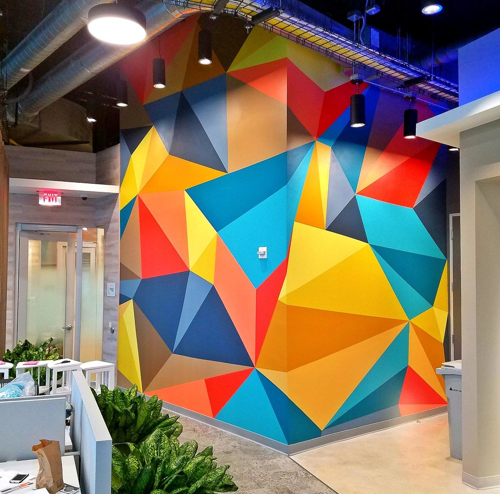 Google office mural Art Basel Brickell, Fl