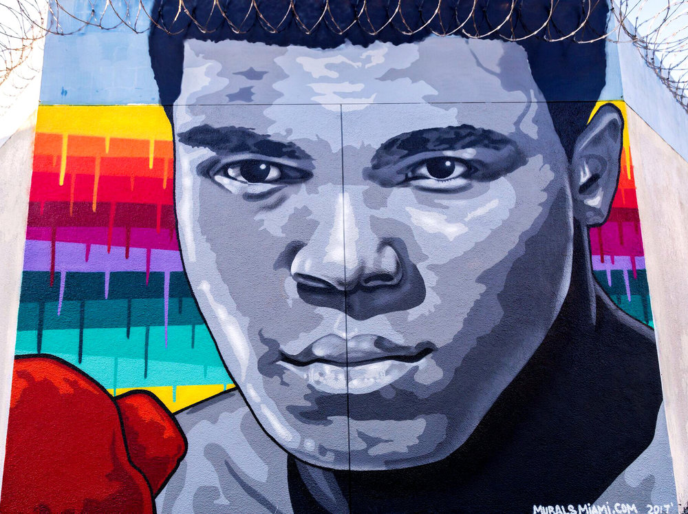 Muhammad Ali mural in collaboration with the State of Florida Miami-Dade juvenile detention center