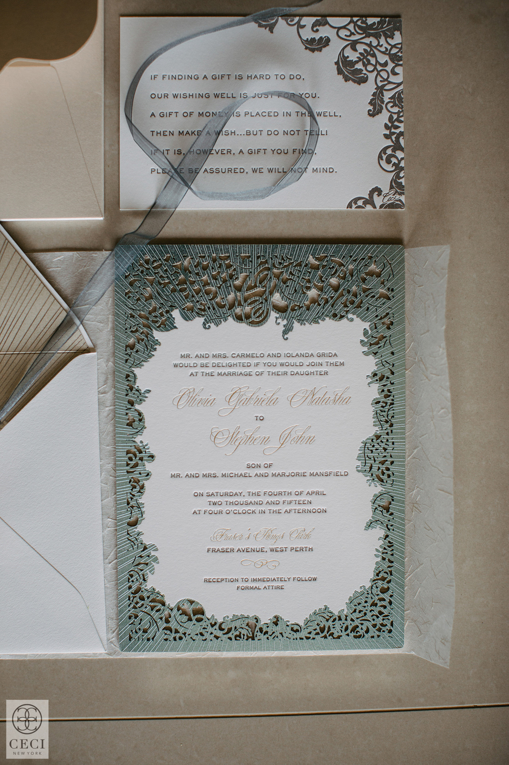 Park Pretty Ceci Style – Custom Wedding Invitations Nyc