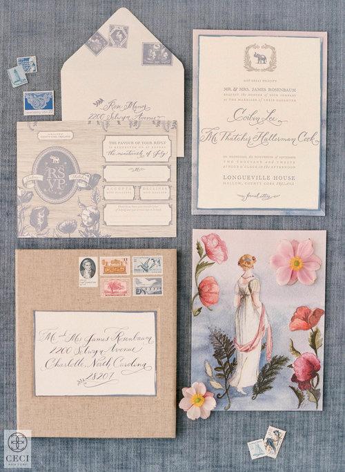 watercolor invitations ceci style