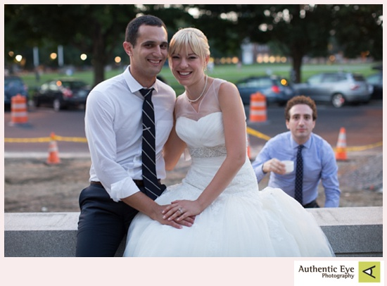 Photobomb by the person who first introduced the couple.