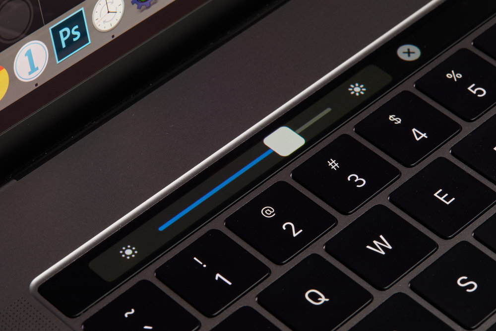 The Touch Bar's screen brightness slider is great for dialing in accurate brightness when calibrating.
