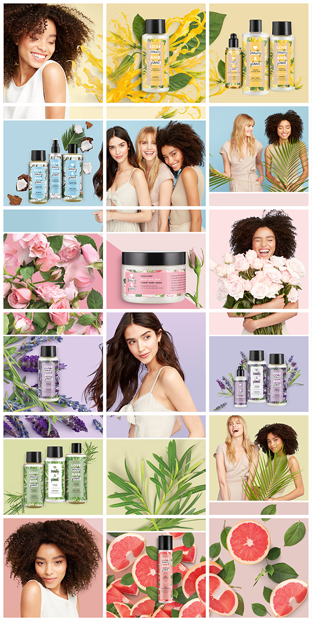 LOVE BEAUTY AND PLANET - Graphic Designer for Unilever's new natural line of shampoos and soaps: Love Beauty and Planet. Instagram look commissioned by Vice Carrot Creative Agency.