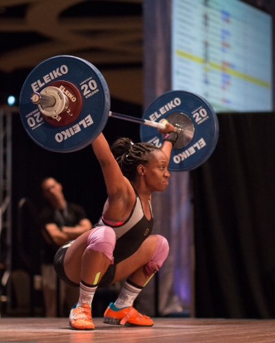 "Claire:  ""Last year I started this weightlifting journey and went to the AO with zero confidence in myself and the same experience. This year I cleaned 93kg with confidence with my signature ""kissy-faced"" clean.  I'm prepared to do this all over again.  That girl that bombed  and didn't have a total last year managed to stay focused and place 2nd in her session this year.  Overall, putting me 24th out of 55 more experienced women in my weight class. Words cannot express how much I am grateful for the support I received this time around.  I'm excited to see what 2017 has in store for me.""   Trains out of:    Coliseum Strength and Conditioning    in Monroe, New York.   Coach: Bryant Llenberg"
