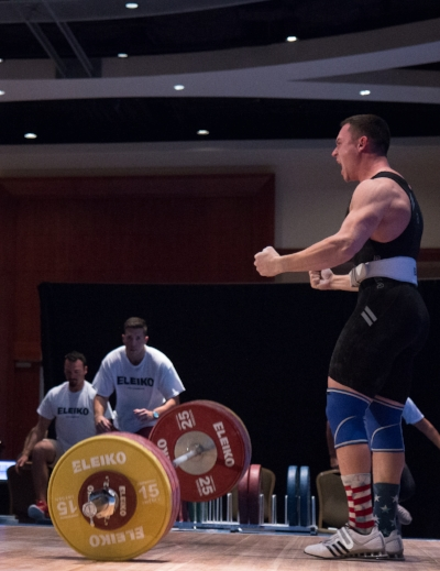 "Ken: "" This years american open was such a great experience! Last year was my first one and I was a 77kg lifter and went 113/135 for a 248 total. This year I went as an 85kg and went 125/160 for 285 total. Besides the fact that I hit PR comp total and clean+jerk (which also happened to be the heaviest in my session! Yay!) I got to come out here with a huge group of my closest friends and teammates!   Being able to help them out in the warmup area and hang out with them was easily the best part of the whole experience! Oh I almost forgot, romy gold and I were competing at the same and also managed to be on our platforms at the exact same time! Super cool!""    Trains out of    Crossfit Redzone    in     Newtown, Connecticut     Coach: Kurt Kling"