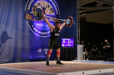 "Ben:  ""I was in the 85B session. This is my second AO. I've been lifting for 2 years. I thought everything leading into the competition went amazing, as far as training, feeling prepared, nutrition, just overall very confident.   I ended up going 5/6 just missing my last snatch attempt. In the process hitting a 300 total for the first time ever in competition and PR cnj with 171kg which I've never even attempted before, finished 10th overall.""   Coach: Steve Titus   (Team Western New York)"