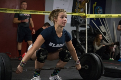 "Michela: "" American Open went pretty well... I didn't bomb out! But I went 5/6 in the Crossfit world and 4/6 in weightlifting. I was most nervous for snatching because in warm ups I missed my last 3 lifts, but there's something about being up on that platform that makes you pull it together. In the back my coaches and I just kept a positive attitude and I was happy to stand up all of my cleans. I walked away with a 1kg PR on my total! Overall American Open was a great experience, can't wait to be back!""   Trains out of   Crossfit Redzone   in   Newtown, Connecticut   Coach: Kurt Kling"