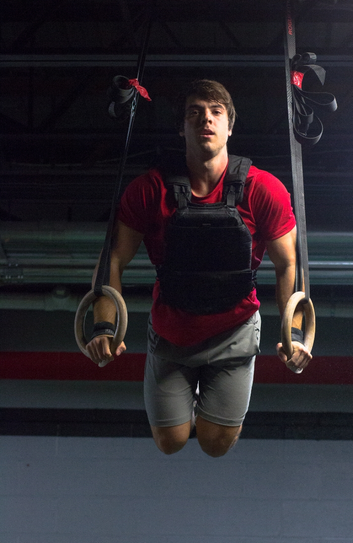 I was impressed by his flawless ring muscle ups and I made sure to tell him so. **Notice the weighted vest**  He told me he's had lot of practice with them. I knew very little about his extensive background in gymnastics. So yeah, after reading up more on Mr. Smith, I had a good laugh. #vivstuff #duh