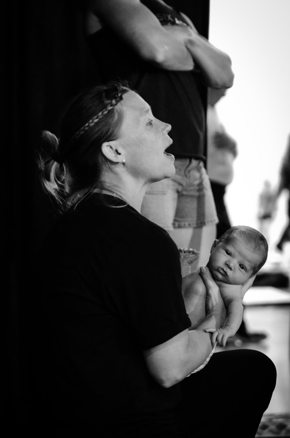 Levi, only a few days old, knew how to pose for the camera.  Photo taken by:  Ryan Paiva from Lifting Life