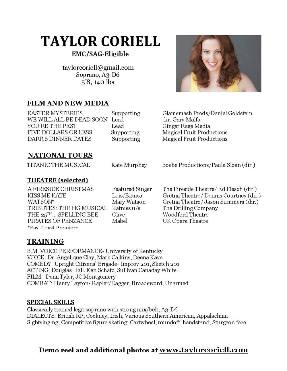 Taylor Coriell Resume