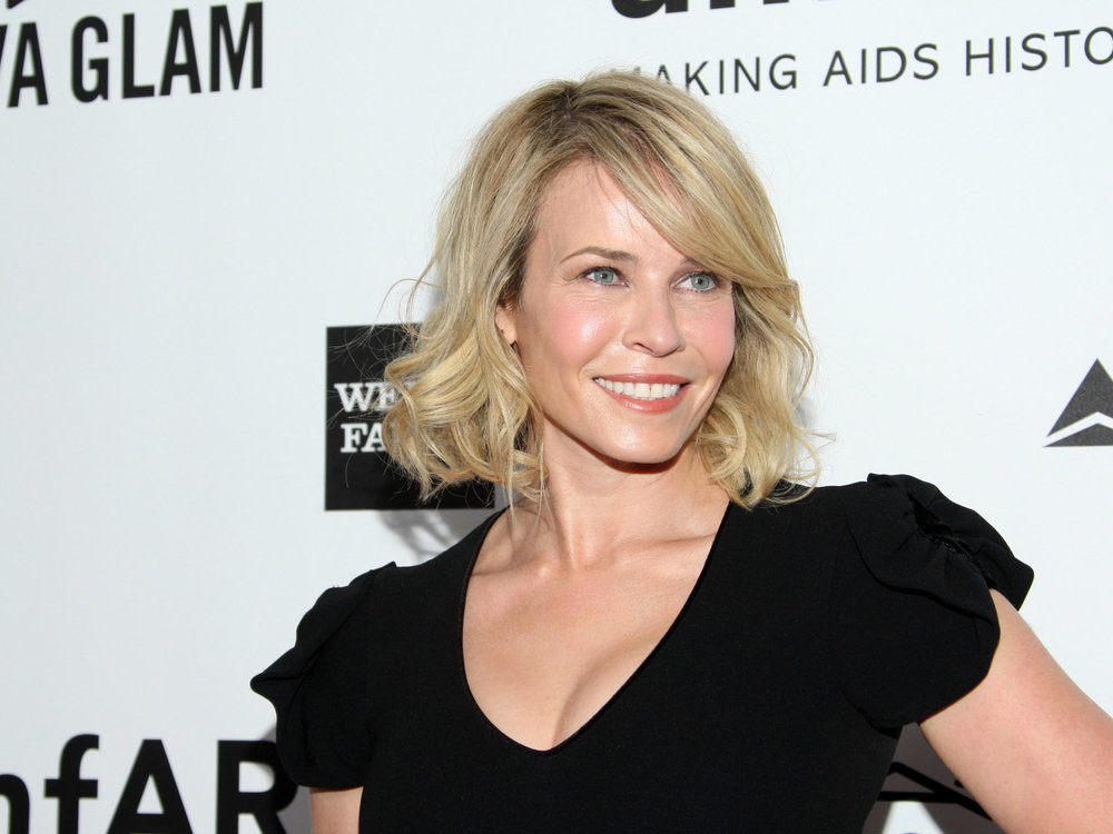 As an advocate for embracing women's natural shapes, Chelsea Handler speaks proudly about her full bust. Mark Davis / Getty Images