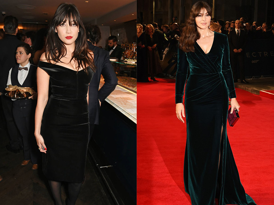 Daisy Lowe: Getty images, Monica Bellucci: Dave Benett for WireImage