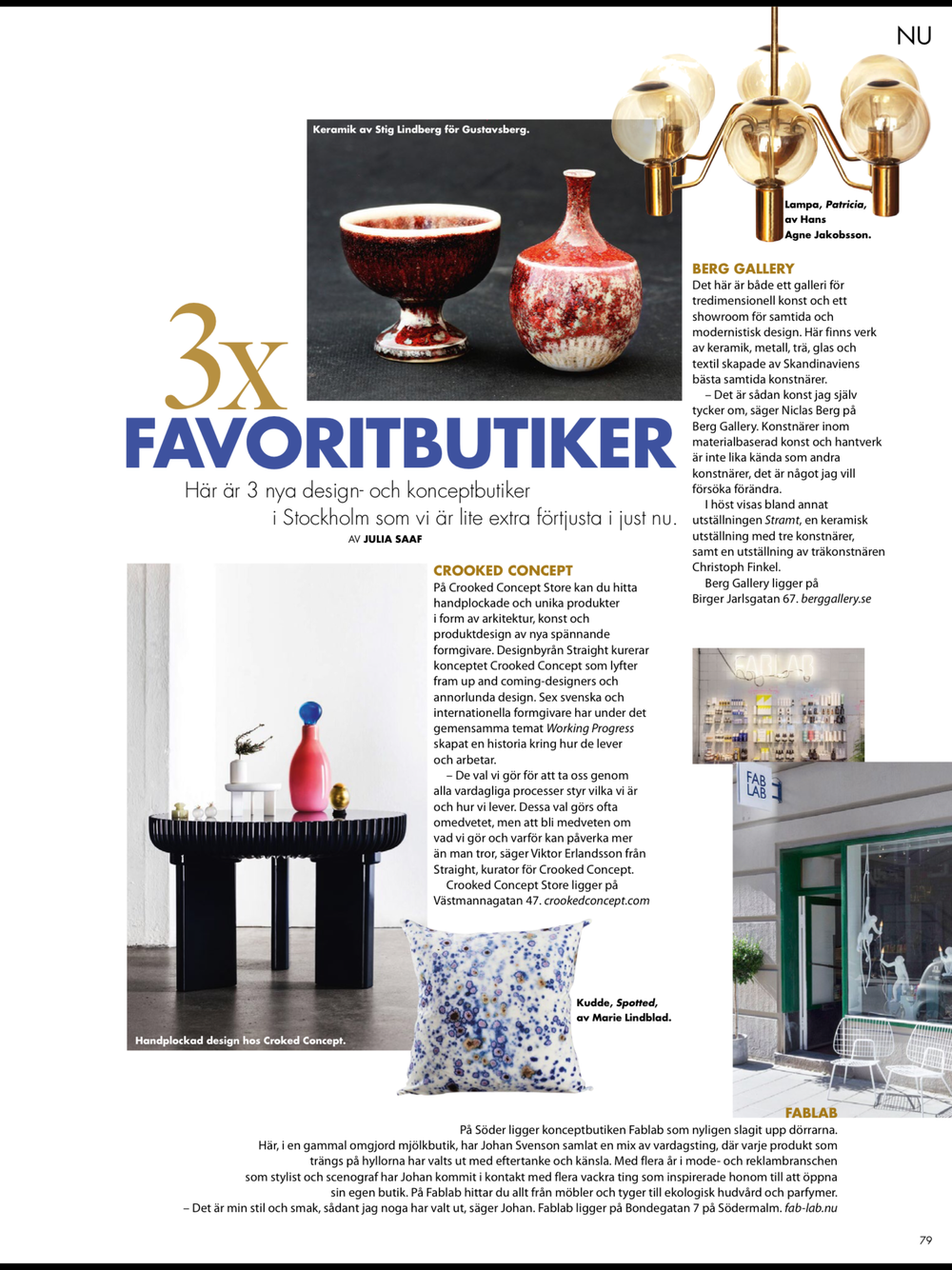 FABLAB featured in ELLE DECORATION