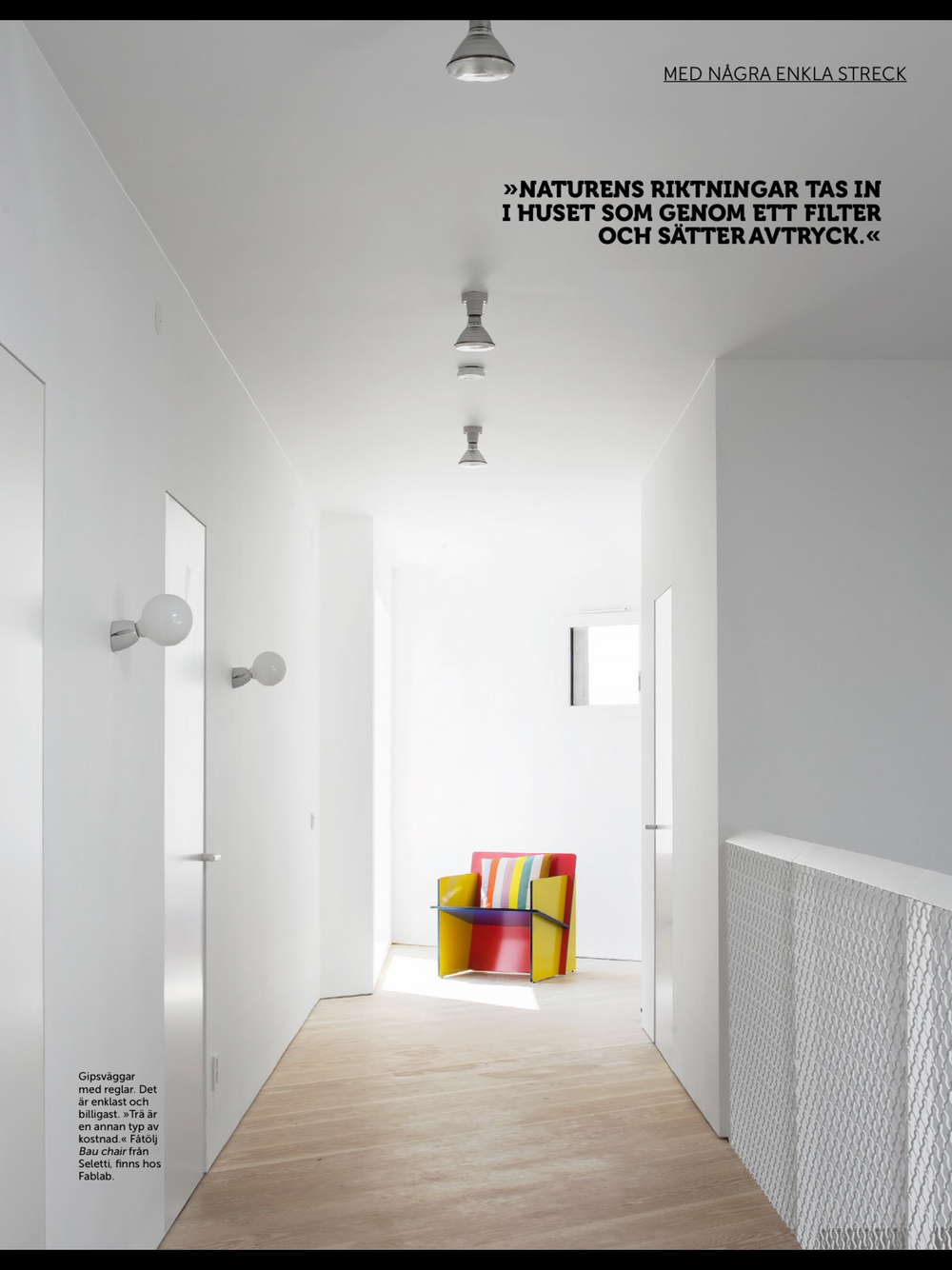 Bauchair from Seletti featured in Residence Magazine