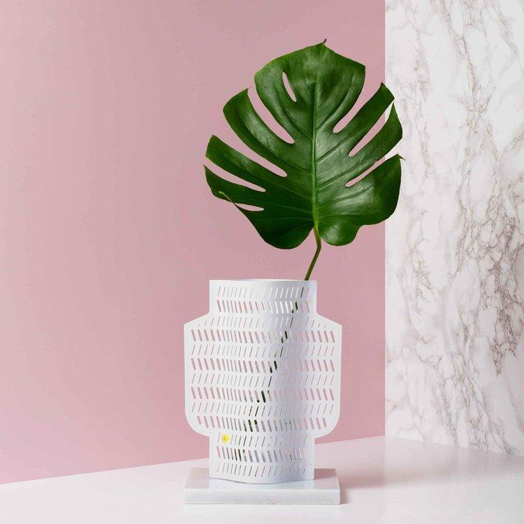 Coral Paper Vase Octaevo Fablab