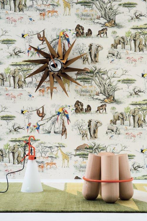 Masai Mara Wallpaper Original Pierre Frey Fablab