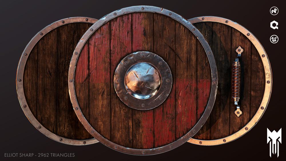 15th Century Round Shield - ME-0141 - Display Medieval Armor
