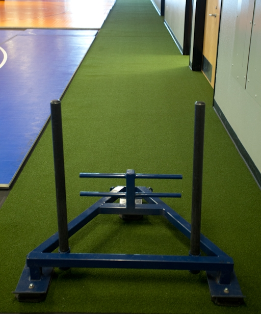 sled with turf