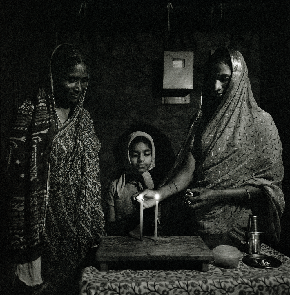 Lighting Candles- Kottareddipalem, India