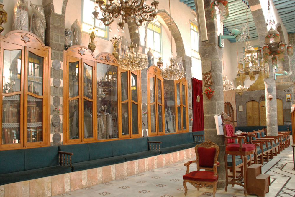 Torah Encasement at French Synagogue- Damascus, Syria
