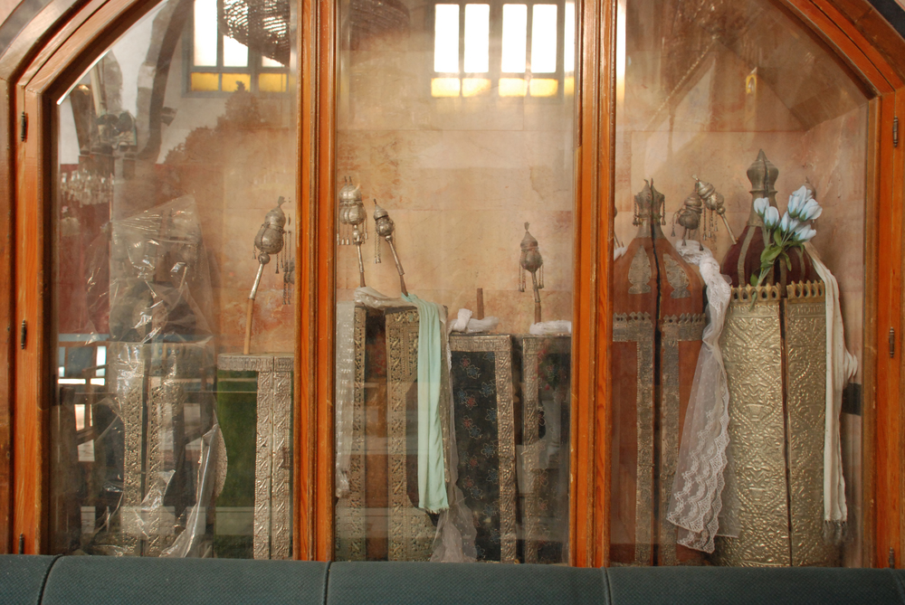 Torah Scrolls at French Synagogue- Damascus, Syria