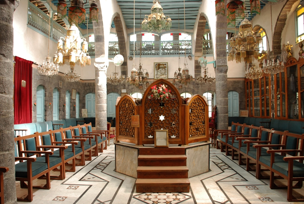 Behind the Bimah at the French Synagogue- Damascus, Syria