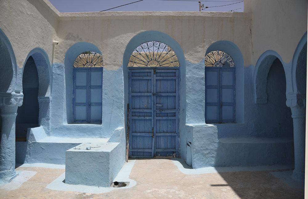 slat Abraham courtyard. Hara Seghira, Djerba, Tunisia