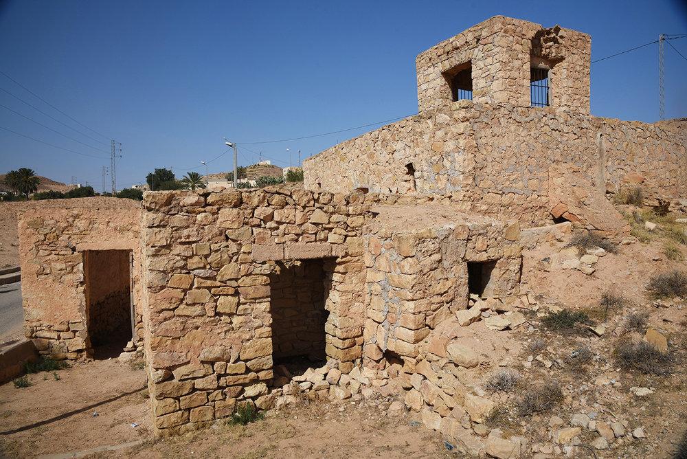 Matmata synagogue exterior. Matmata, Tunisia