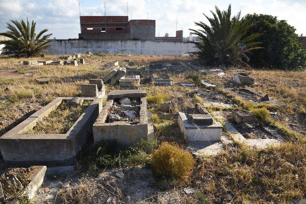 Bizerte Jewish cemetery. Bizerte, Tunisia