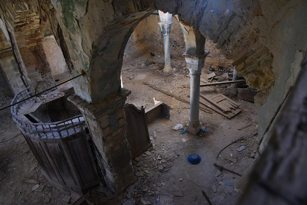 Mokime synagogue bemah. Mokime, Tunisia