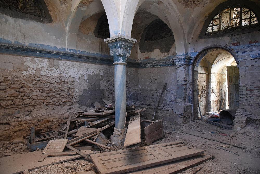 Mokime synagogue interior. Mokime, Tunisia