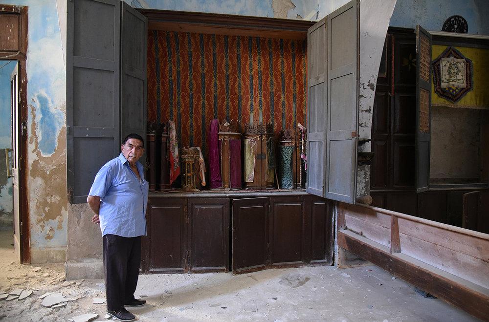 Mahdia synagogue torah scrolls. Mahdia, Tunisia