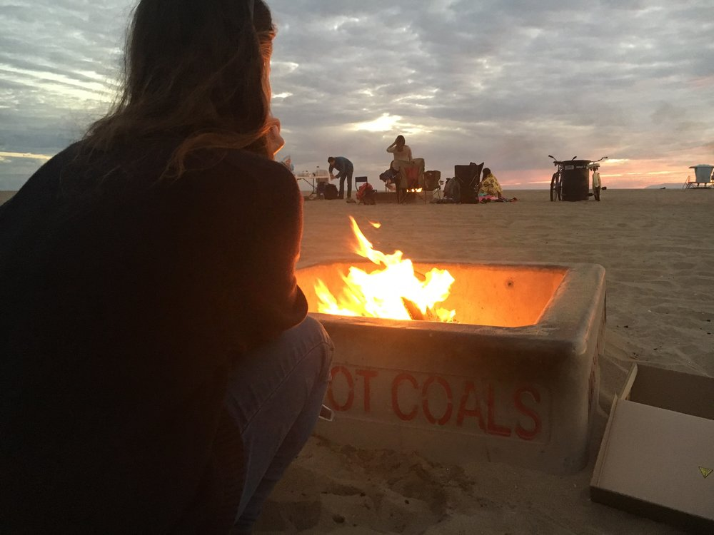"Cynthia's first monthly ""bonfire"" tradition, right after her Quiet Adventure."