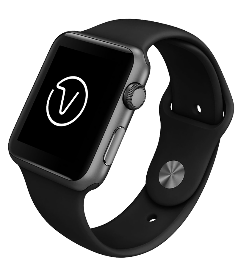 VIIVIO Black Apple Watch