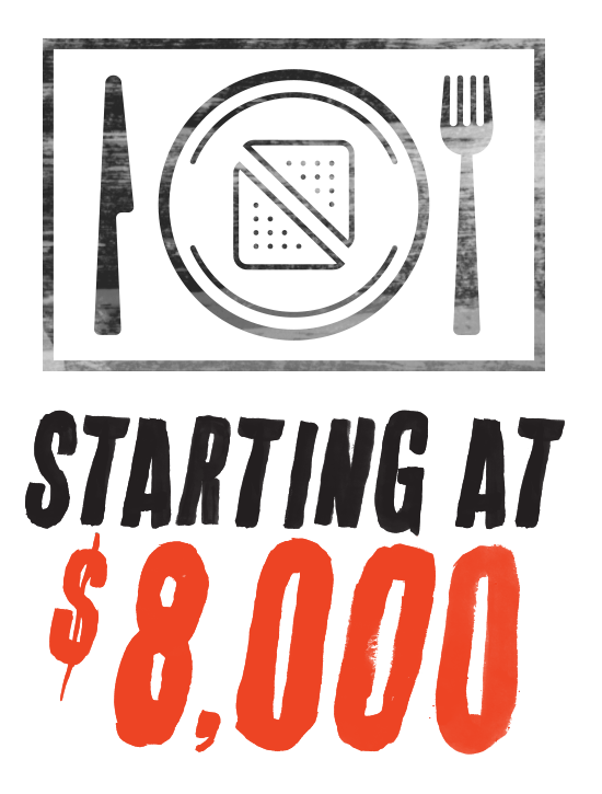 Starting at $8,000