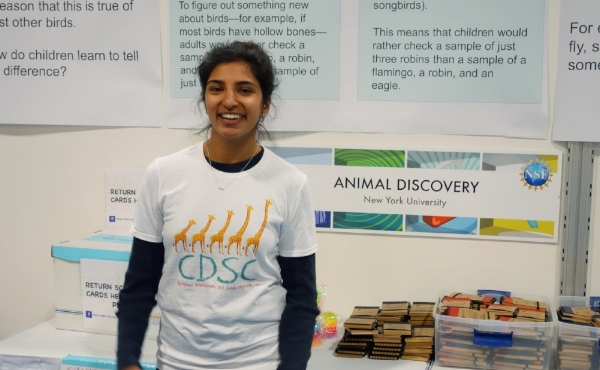 Honors student, Kaajal Sagar, handing out prizes at the USA Science & Engineering Festival in Washington, D.C.!