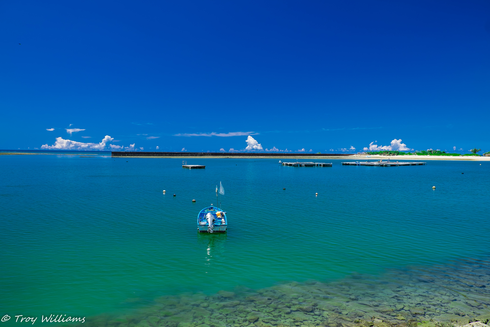 """Yes. The water is this beautiful. Okinawa is a sub-tropical island. If you're from a place with all four seasons, you may find that """"winter"""" in Okinawa is really spring everywhere else ;)"""