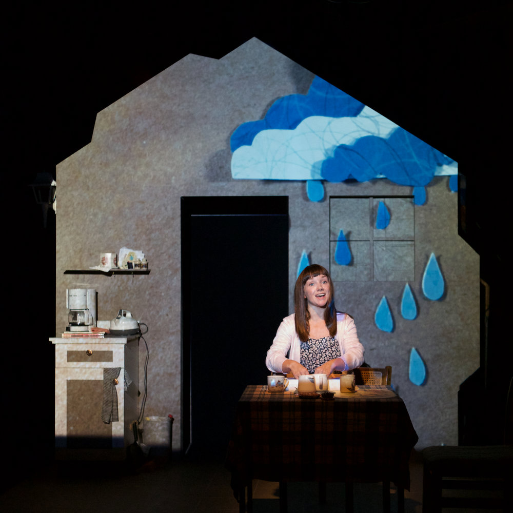 Lucy Hill as Petal, Projection by Briana Brown and Anna Treusch