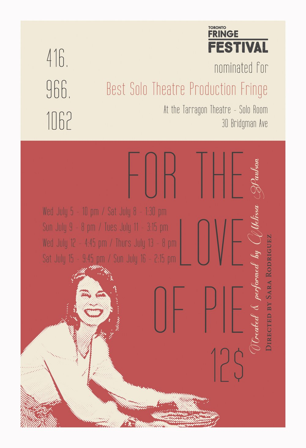 For the Love of Pie - https://fringetoronto.com/festivals/fringe/event/love-pie