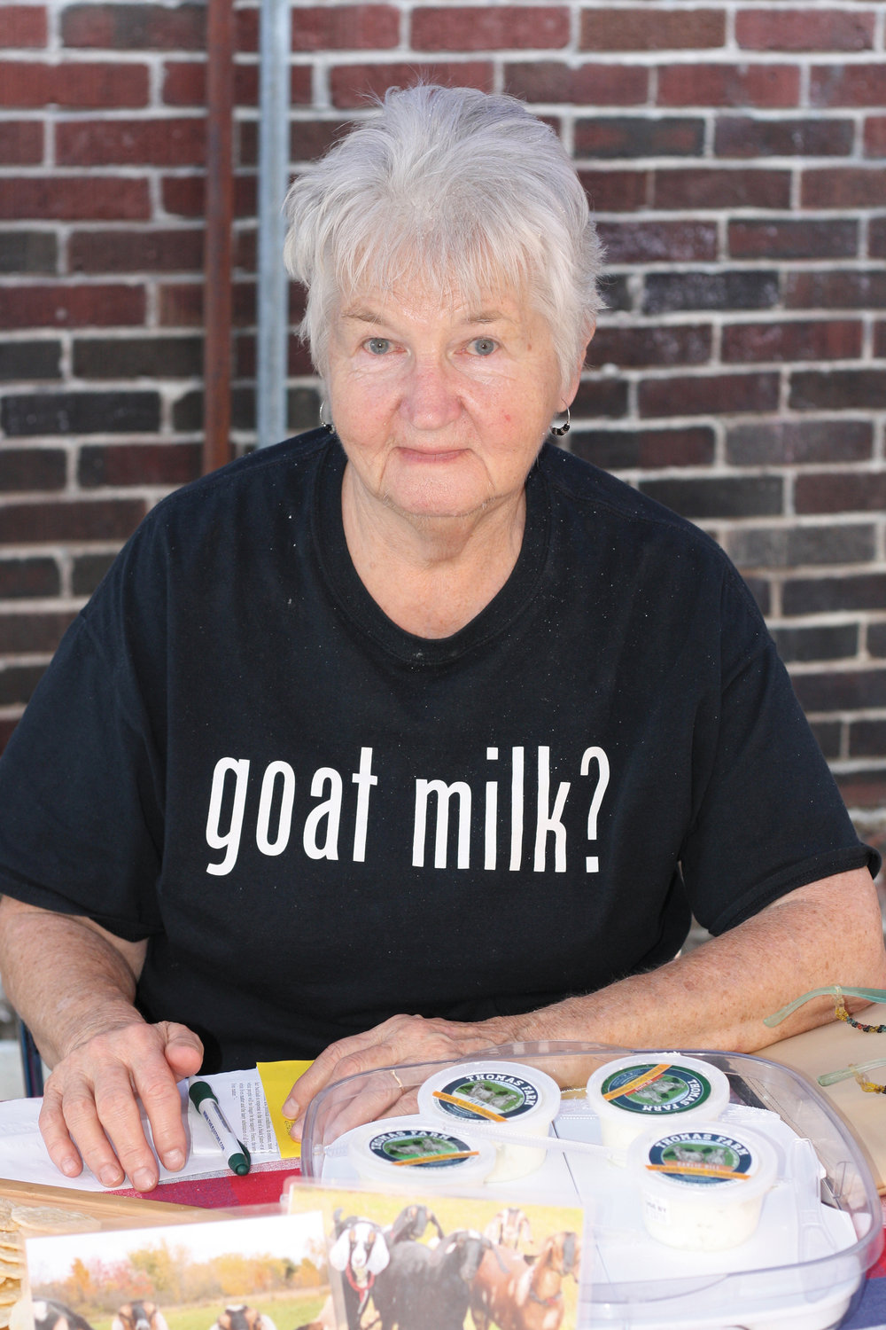 Kathleen Burek of Thomas Farm Goat Cheese always asks the important questions
