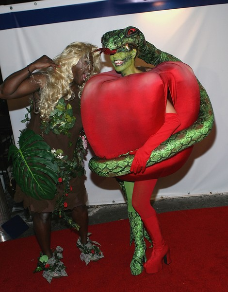 Adam/Eve and forbidden fruit: So creative and out there that you and your BAE would be sure to win any costume competition!
