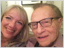 Jennifer with Larry King, Award-Winning Television and Radio Host