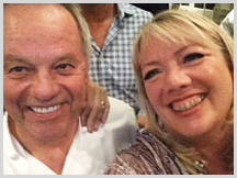 Jennifer with Wolfgang Puck, Celebrity Chef and Restauranteur