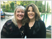 Jennifer with Marianne Williamson, New York Times Best Selling Author