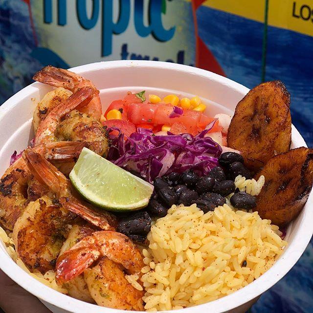 Jumbo Shrimp Bowl #thetropictruck #caribbeanfood #shrimplover #wecater