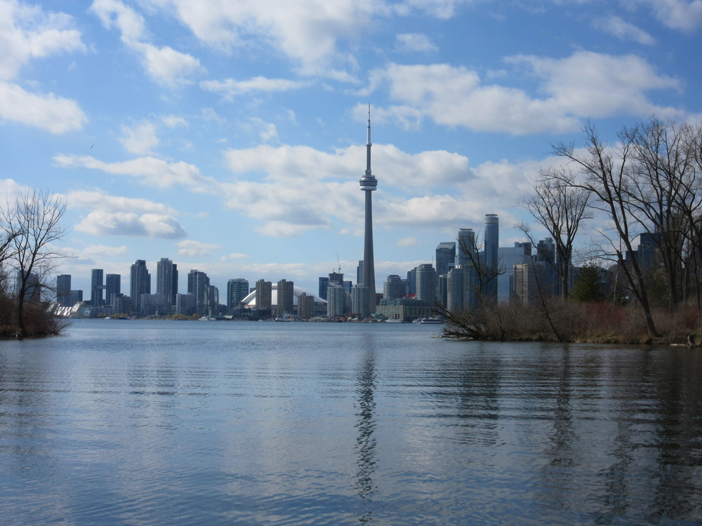 View of the city from the Toronto Islands