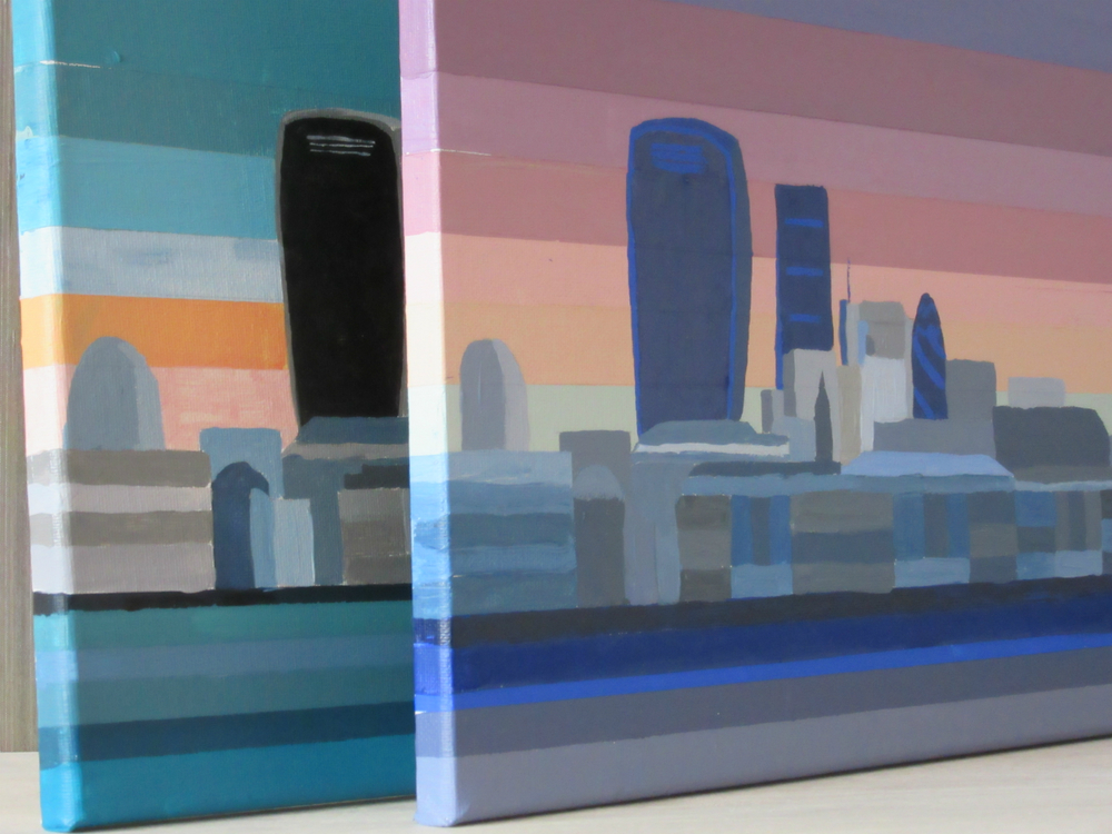Completed skyline paintings | South Island Art
