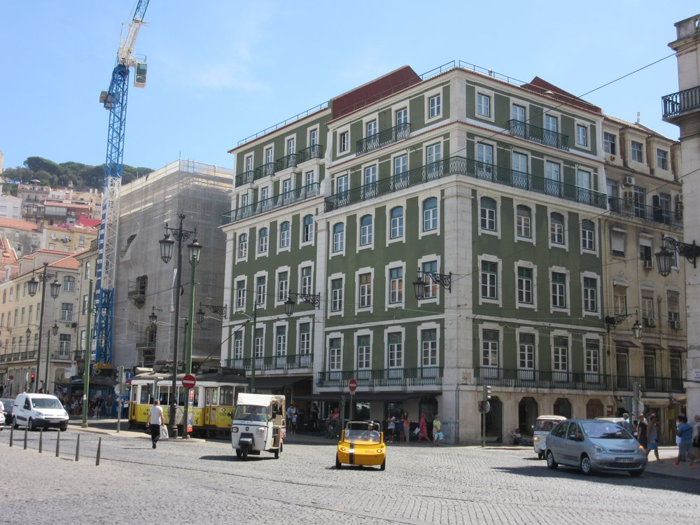 Beautiful buildings in Lisbon